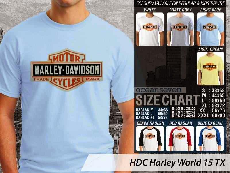 Kaos Motor Harley Davidson World 15 distro ocean seven