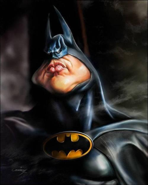 Бэтмен - 18 юмористических карикатур на знаменитостей из 15 известных кинолент