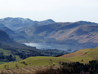Derwentwater from ascent of Lonscale Fell