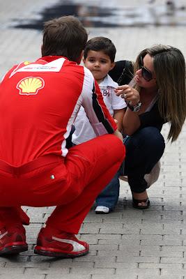 Роб Смедли, Мария Масса и Фелипиньо Масса на Гран-при Европы 2011
