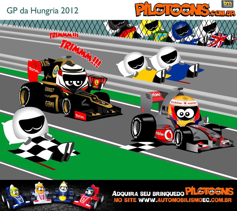Кими Райкконен Льюис Хэмилтон Lotus McLaren Хунгароринг pilotoons по Гран-при Венгрии 2012