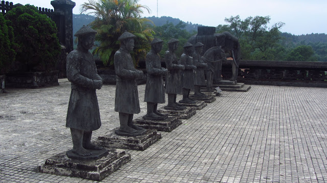 Stone statues at the tomb of Khai Dinh.