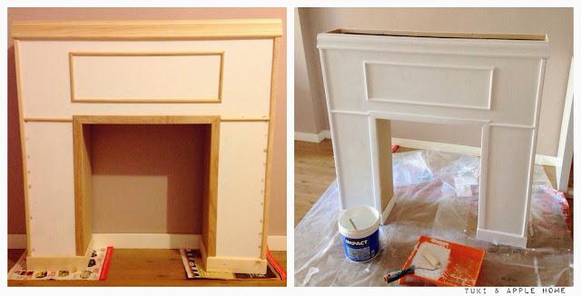 puede dejar lisa sin ms adornos pero me resultaba un poco sosa creo que as queda mejor una vez terminada toda la decoracin pintamos la chimenea