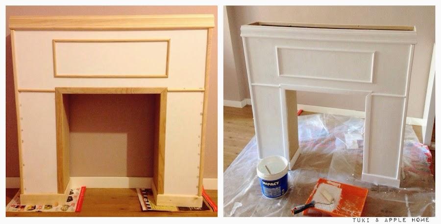 Diy una chimenea decorativa decoraci n - Como hacer chimeneas decorativas ...