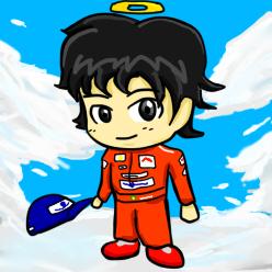 анимешная аватарка Айртон Сенна by bule