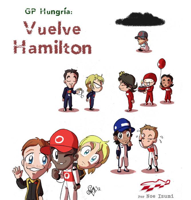 анимешная картинка Noe Izumi по Гран-при Венгрии 2012