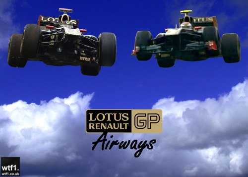 Lotus Renault GP Airways Ник Хайдфельд и Виталий Петров