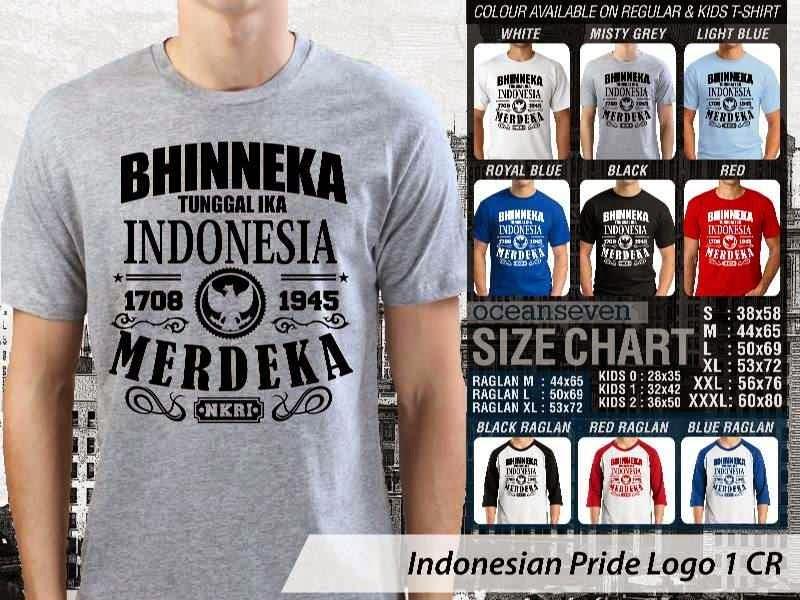 KAOS Bhinneka Tunggal Ika Indonesia Merdeka Indonesian Pride Logo 1 distro ocean seven