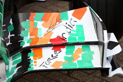 переднее крыло болида Force India в Сильверстоуне