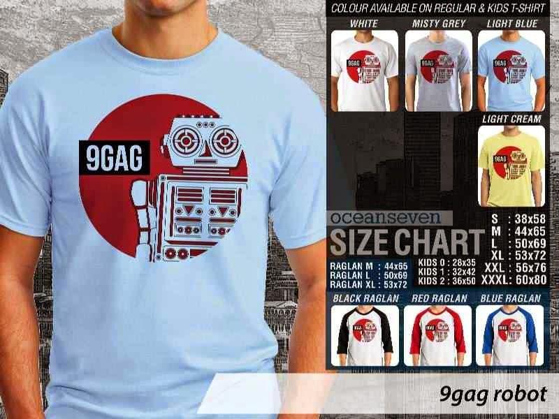 Jual Kaos 9Gag Lucu Meme ROBOT distro ocean seven