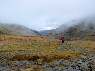 Low cloud (slowly rising) at Styhead
