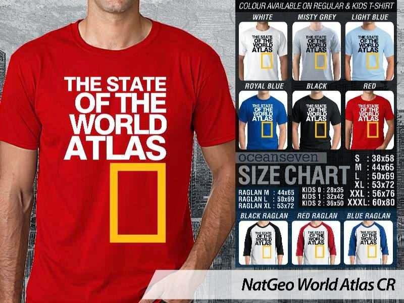Kaos National Geographic NatGeo World Atlas distro ocean seven
