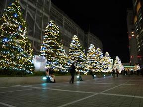 新宿サザンテラス入口のクリスマスイルミネーション