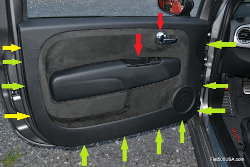 Fiat 500 Abarth door panel clips