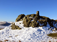 A snowy High Seat Summit
