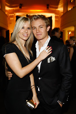 Вивиан Сиболд и Нико Росберг на Thomas Sabo launch party в Goya club 6 декабря 2011 в Берлине