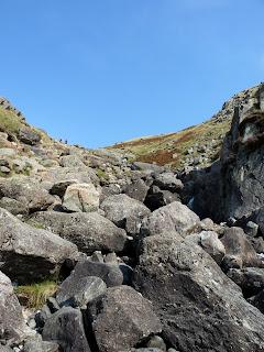 A bouldery ascent