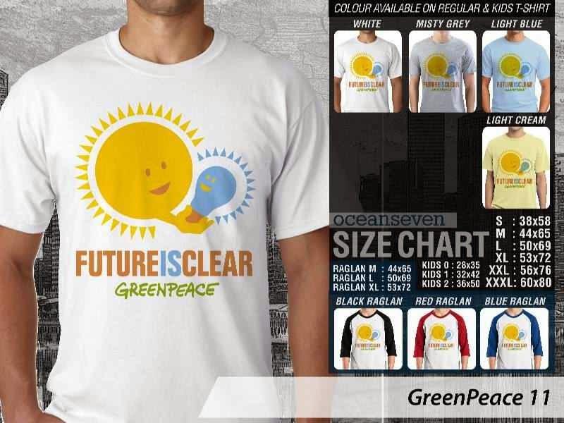 KAOS Cinta Bumi GreenPeace 11 | KAOS Selmatkan Bumi greenpeace future clear distro ocean seven