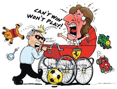 комикс Jim Bamber про Ferrari в сезоне 2011