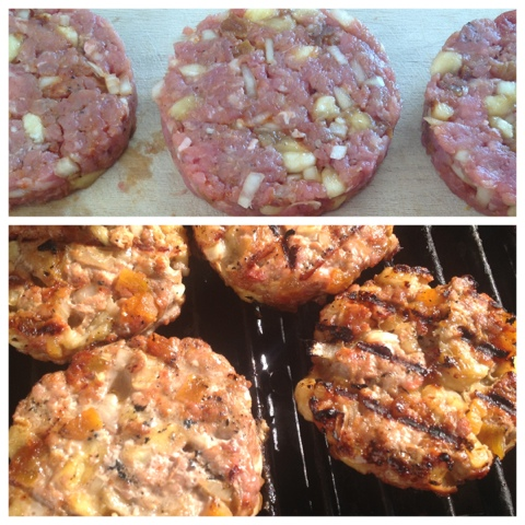Turkey, Banana & Apricot Burgers