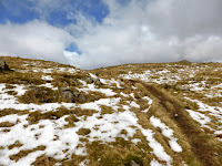 First encounters of snow near the top of Steel Fell