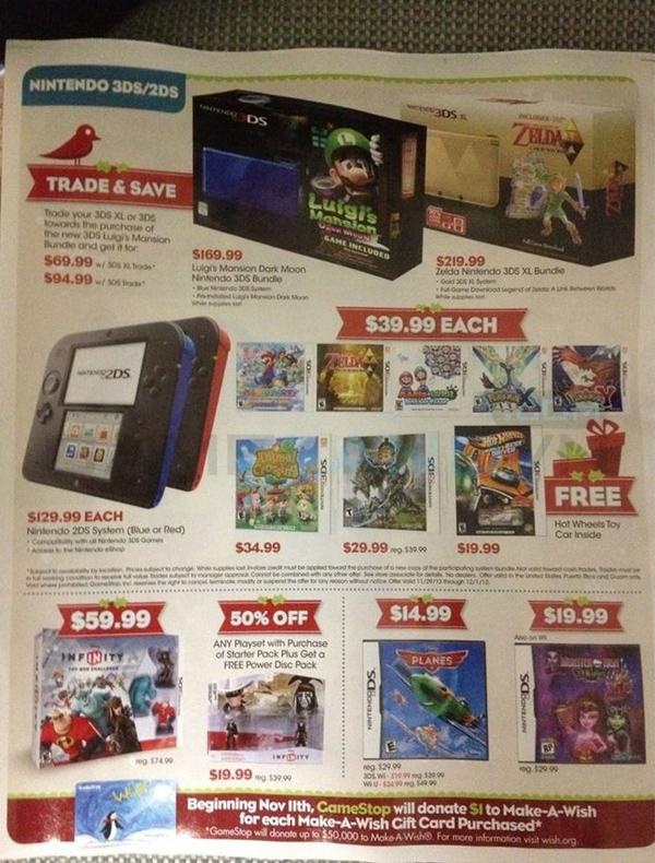 Lộ bảng giá khuyến mãi của GameStop dịp Black Friday 8