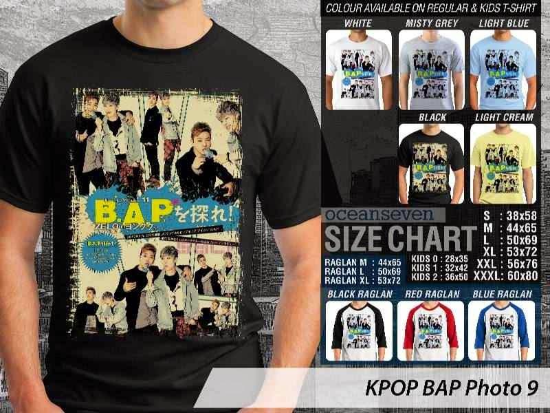 Kaos Bap 9 Photo K Pop Korea distro ocean seven