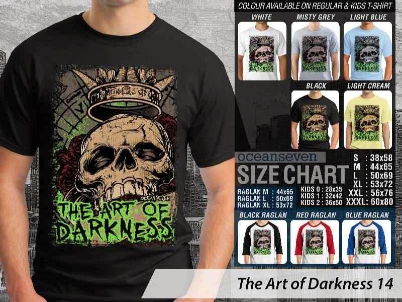 KAOS keren skull tengkorak The Art of Darkness 14 distro ocean seven