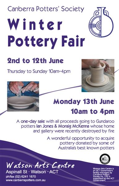winter pottery fair
