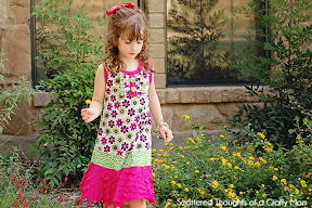 Tunic Dress with  Ruffle Fabric