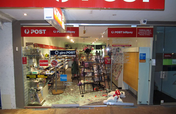 post office ram raid