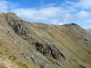 Twopenny Crag and Kidsty Pike from the Straits of Riggindale.