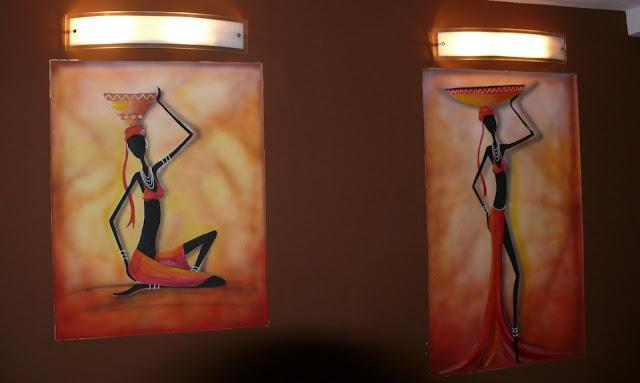 afrykańskie zdobienie ścian, malowanie murzynki
