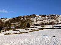 Looking To Curbar Edge From The Village Of Curbar