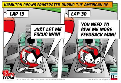 радиопереговоры Льюиса Хэмилтона с командой - комикс Chris Rathbone по Гран-при США 2013