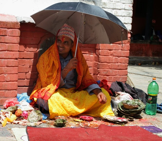 Street Moment from a temple in Patan Heritage Zone, Nepal