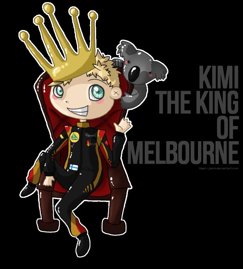 Король Мельбурна Кими Райкконен на Гран-при Австралии 2013 - комикс tiger-jenni
