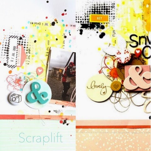 Reto Kimidori, scraplift, dos piruletas, gelatos, neocolors, heidi swapp, we r memory keepers, mix media, yoyscrap
