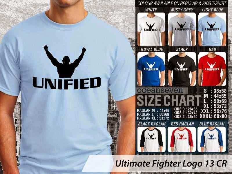Kaos UFC Ultimate Fighter Unified Logo 13 distro