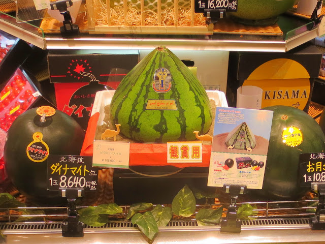 A pyramid shaped watermelon, for about $1,000