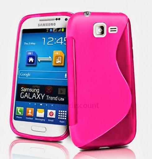 itm Housse etui coque silicone gel pour Samsung Galaxy Trend Lite s film ecran