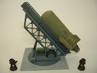 Buzz bomb rocket and launcher Military Science Fiction war game terrain and scenery