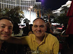 The Bellagio Fountains in full swing behind us