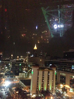 atlanta, city lights, night skyline