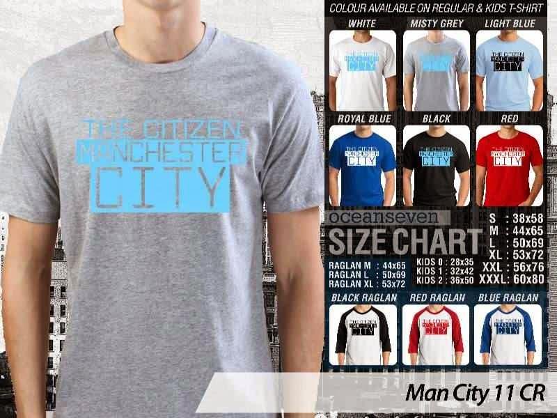 KAOS Man City Manchester City 11 Liga Premier Inggris distro ocean seven