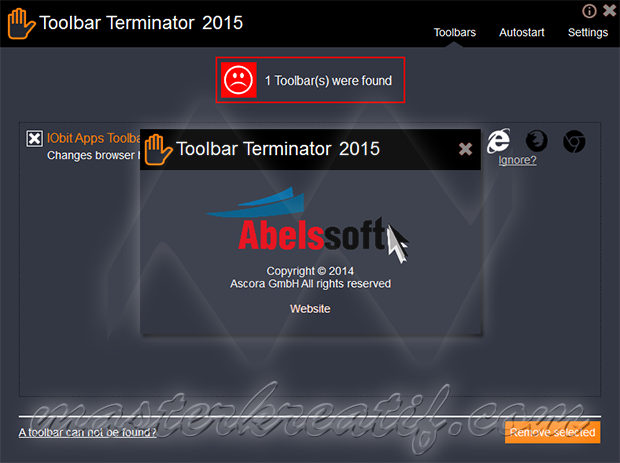 Toolbar Terminator 2015