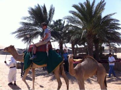 Марк Уэббер на верблюде