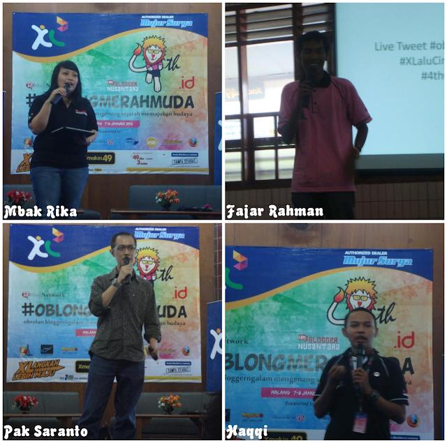 #OblongMerahMuda HUT ke 4 Blogger Ngalam | Sambutan