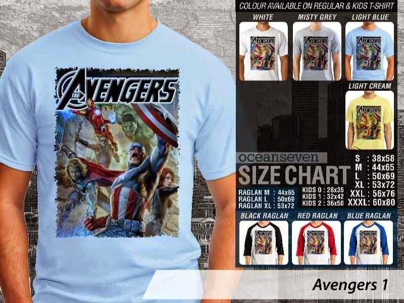 Jual Kaos Captain America hulk iron man thor Avengers