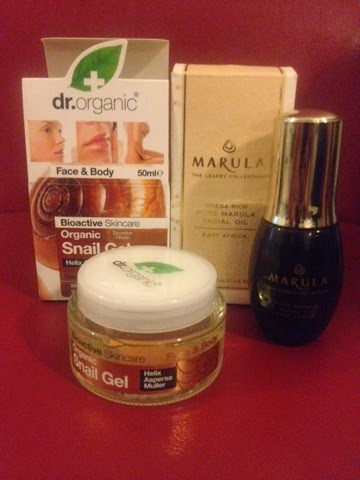Dr Organic Snail Gel jar with Leakey Marula Oil